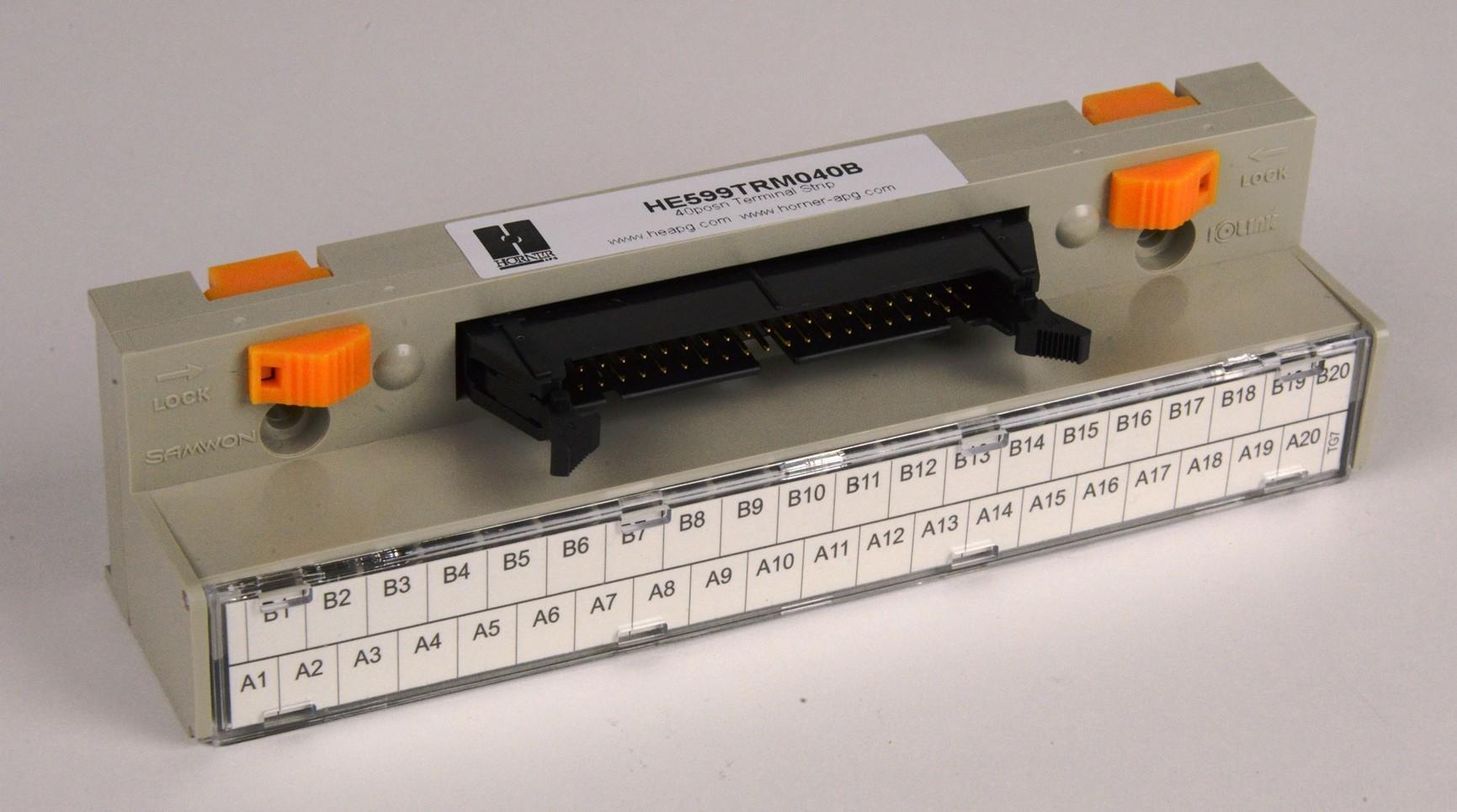40 Pin, DIN-rail Terminal Strip - SmartLink