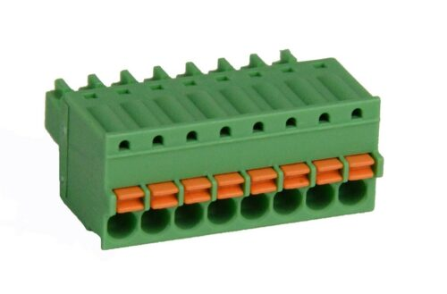 8 position Spring Clamp Terminal Block - SmartRail