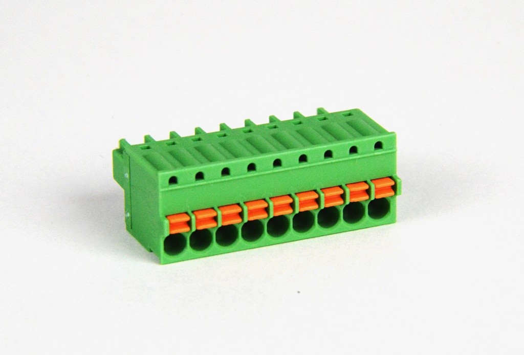 9 position Spring Clamp Terminal Block - SmartRail