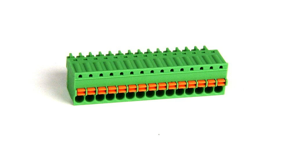 15 position Spring Clamp Terminal Block - SmartRail