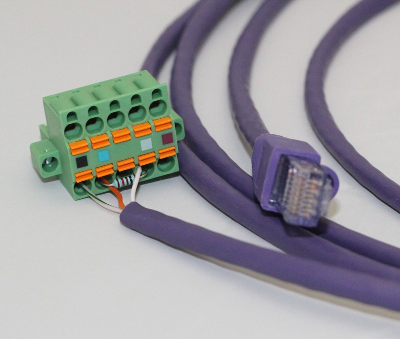 RJ45 to 5 Pin Cable - 9ft